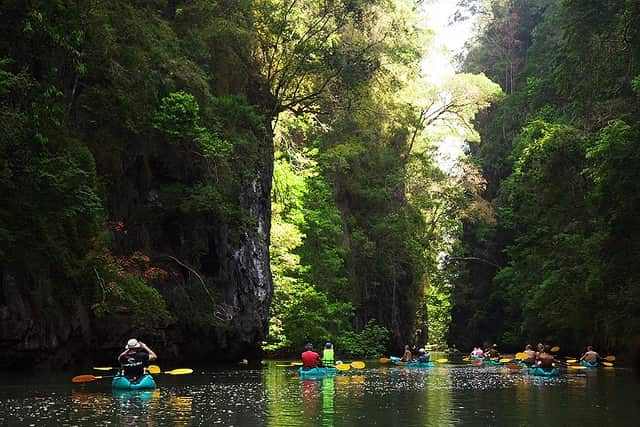 Kayaking - Ao Thalene, Thailand